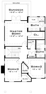 house plans for narrow lots popular narrow lot house plan 44060td architectural designs