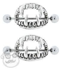 nipple rings images 14 gauge fang nipple ring shield jpg