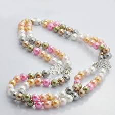 pink coloured beads necklace images Coloured pearl necklace multi coloured pearl necklace jewellery jpg
