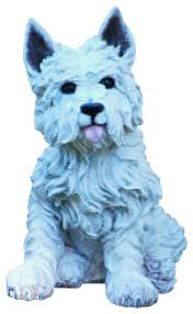 westie statue transitional garden statues and yard by