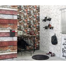 papier peint lutece chambre brique vieillie collection les aventures de lutèce