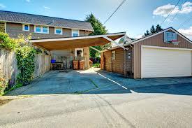 backyard garage backyard with garage and basketball court stock photo image of