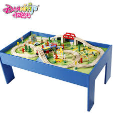 thomas the train wooden table wooden game table track toy model roller coaster compatible thomas