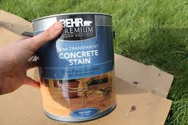 Painting A Cement Patio by How To Stain A Concrete Patio Chris Loves Julia