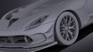 Dodge Viper 2016 - dodge viper acr 2016 vray squir
