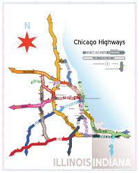 Map To Chicago chicago highway names map dean dunakin