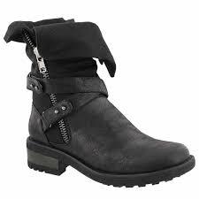 womens casual boots canada softmoc s bellatrix black casual combat boots