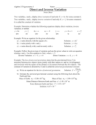 5 1 direct and inverse variation
