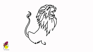 roaring lion king forest draw lion