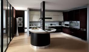 brown ceramic floor with black and white italian kitchen design