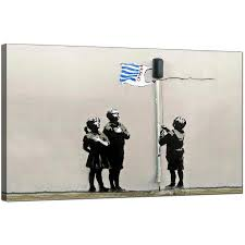 wall art ideas banksy canvas wall art explore 12 of 20 photos