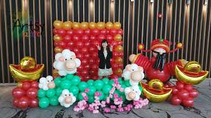 New Year Decoration Design by Chinese New Year Decorations Singapore Balloon Decoration