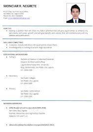 Formal Resume Template Download Resume Sample Doc Haadyaooverbayresort Com