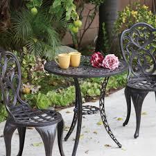 darlee hampton 3 piece cast aluminum patio bistro set antique