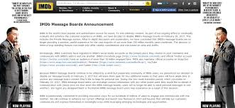 what happened to imdb message boards imdb is shutting down their message board nostalgia