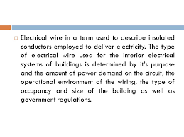 types of wires used in electrical wiring electrical wire article electrical wire in a term used to
