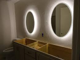 bathroom mirror with lights behind bathroom lighting oversized mirror with led behind mirrors lights