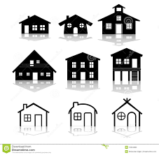 simple house vector illustrations stock photo image 10094880