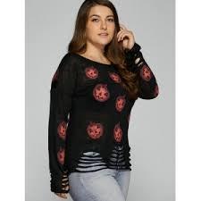 black 4xl pumpkin plus size sweaters rosegal