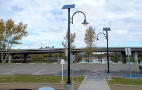 trail of lights parking solar led street lighting solar street ls solar powered