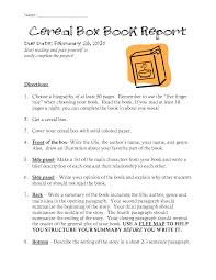 biography book report template pdf awesome cereal box book report template contemporary best resume