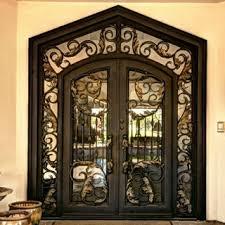 Large Exterior Doors Wrought Iron Door With Swirl Centres Home Pinterest Inside