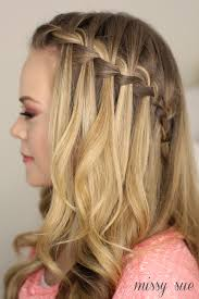 how to i french plait my own side hair how to do a waterfall braid