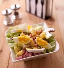 cuisine salade salade parisienne jambon chignons emmental oeufs durs les