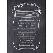 mason jar standard wedding invitation walmart com