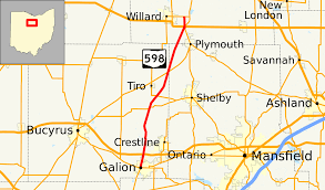 Map Of Mansfield Ohio by Ohio State Route 598 Wikipedia