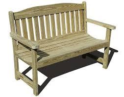 Heavy Duty Garden Bench Treated Pine English Garden Bench