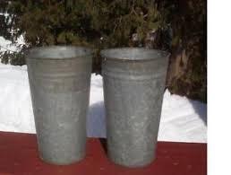 Galvanised Vases Galvanized Bucket Ebay