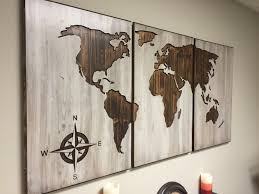 a personal favorite from my etsy shop https www etsy com listing wall art designs wooden world map wall art wood world map wall art carved 3 panel home decor world map decal world map poster beautiful wooden world map