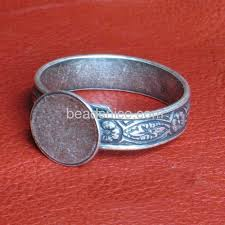 Wholesale Jewelry Making - wholesale silver ring base finger rings blanks settings flat pad