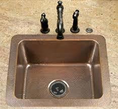 single bowl drop in copper kitchen sinks