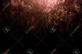 free halloween background texture dark old scary rusty rough golden and copper metal surface texture
