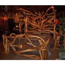 Rustic Wooden Bedroom Furniture - rustic bedroom furniture log bed mission beds burl wood f