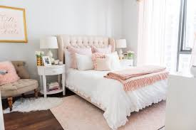this fashion blogger u0027s bedroom makeover is super stylish and