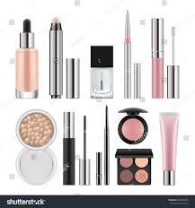 vector set packages decorative cosmetics stock vector