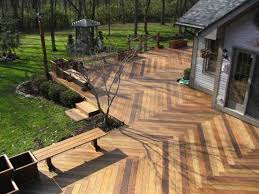 Patio Flooring Options Patio Wooden Deck Flooring Options With Long Bench Plant