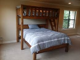 Twin Bunk Bed Diy by Wooden Bunk Beds Forever Redwood Diy Twin Over Queen Bed Punta