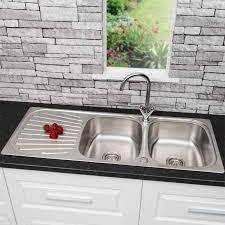 Stainless Steel Kitchen Sinks Plumbworld - Kitchen stainless steel sink