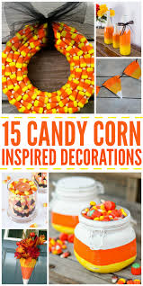 15 candy corn inspired decorations for halloween