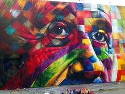street art portrait of einstein by eduardo kobra in los angeles
