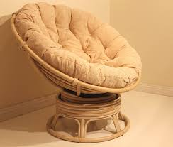 amazon com rattan wicker swivel rocking round papasan chair with