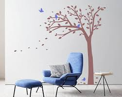 tree wall decal with birds nursery vinyl tree stickers