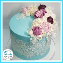 edible lace vintage buttercream lace and roses custom birthday cake nj