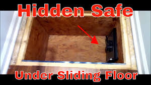 very cool secret hidden safe under sliding floor youtube