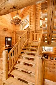 barth log home stairs morningdale log homes llc