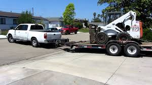 2006 toyota tundra struggling to tow a bobcat youtube